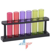 Cuisine Elegance 50ml Test Tube Shot Glasses With Stand - Set of 6