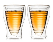 Creano 249 Thermo Glass Deco RD 200 ml Set of 2, Glass, Clear, 11.5 x 6 x 6 cm