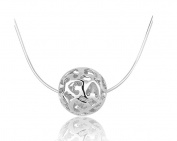 925 Sterling Silver Necklaces for Women with Pendant Cut Beads Ball Chain Necklace Charm Jewellery