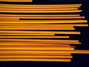 Devardi Glass COE 41kg Spaghetti Stringers, 2mm, Opaque Orange, 120mls Fusing, Beadmaking Rods