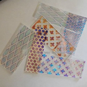 COE 96 DichroMagic 0.1kg Dichroic Scrap Thin Clear Pattern Jeweller's Scrap