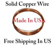 By Copper wire USA -18 Ga 7.6m Solid Round Copper Wire Coil - Dead Soft