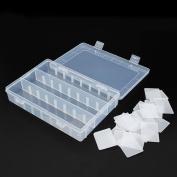 Generic 24 Compartments Adjustable Electronics Parts Gadgets Tool Storage Box Craft Beads Jewellery Box Organiser Plastic