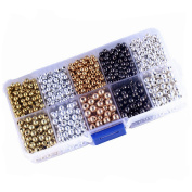 1BOX Different Colour and Size Mix Tiny Metal Spacer Round Beads DIY Jewellery Accessory for Jewellery Making