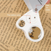 Kadaon 30X 60X LED Lighted Illuminated Jewellers Eye Loupe Jewellery Magnifier for Gems Jewellery Rocks Stamps Coins Watches Antiques