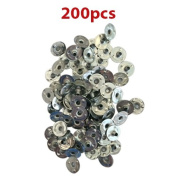 CozYours 200 pcs 12.5 mm Metal Candle Wick Sustainer Tabs