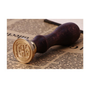 Julyshop Classic Wax Seal Stamp Retro Wood Sealing Wax Initial Alphabet 26 Letter