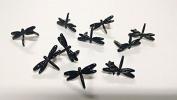 Dragonfly Brads - 10pc - Black