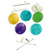 Eyelet Outlet Shape Brads 12/Pkg-Knitting