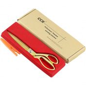 Fabric Sewing Scissors Titanium Stainless Steel Professional Dressmaking Shears Heavy Duty 27cm Gold CCR