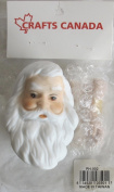 CRAFTS CANADA Craft SET of 1 PORCELAIN SANTA Doll HEAD 7.6cm and PAIR of HANDS Each 5.1cm - 0.3cm Long
