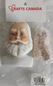 CRAFTS CANADA Craft SET of 1 PORCELAIN SANTA Doll HEAD 7.6cm - 1.6cm and PAIR of HANDS Each 5.1cm - 1cm Long