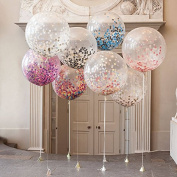 90cm Confetti Balloon Jumbo Latex Balloon paper balloons Crepe Paper Filled with Multicolor Confetti for Wedding or Party Decorative