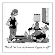 The New Yorker NYM070 Flexible Magnet, Social Networking My Ass Off