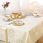 Emma Barclay Damask Rose Tablecloth, Cream, 130cm x 180cm