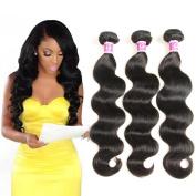 Colourful Queen Brazilian Virgin Hair Body Wave Remy Human Hair 3Bundles Weaves 7A Unprocessed Hair Extensions Natural Colour 12 14 41cm