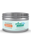 Body Butter BEST - Fast, Effective Hydrating Butter for dry, rough skin - 100% Natural, Organic, Gluten-free - Soothes, heals, moisturises - 180ml Harmony Scent - Primal Life Organics