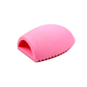 colour CLEANER Silicone Makeup Brush Egg Silica Brush Cleaner Washing Glove Scrubber Board Cleaning Tool for Cleaning Makeup Brushes