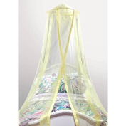 Mainstays Kids Satin Trim Canopy, 100-Percent Polyester | Featuring a Hoop and Netting-Hanging Ring