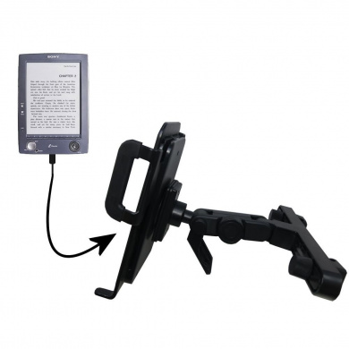 Gomadic Brand Unique Vehicle Headrest Display Mount for the Sony PRS-500 Digital Reader Book