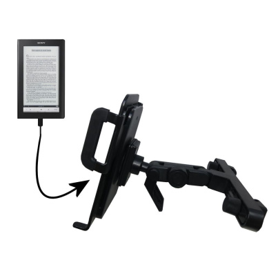 Innovative Headrest Vehicle Mount to Support Sony PRS-900 Reader Daily Edition Tablet by Gomadic