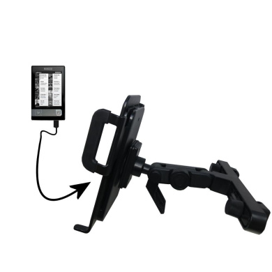Innovative Headrest Vehicle Mount to Support Netronix Bookeen Cybook Gen 3 Tablet by Gomadic