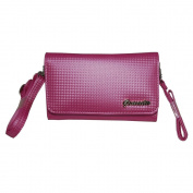 Small and . Women Pink Purse Handbag Case for iRex Digital Reader 1000 with both Hand / Shoulder Strap