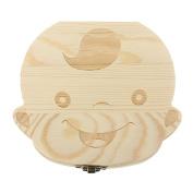Charminer Wood Tooth Box Organiser Baby Children Save Milk Teeth Storage Box BOY