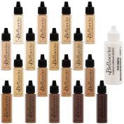 Belloccio All 17 Airbrush Makeup Shades Foundation Set