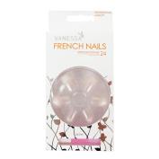 VANESSA French Nails With Glue 24pcs Artificial Nail Art Design No.5