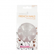 VANESSA French Nails With Glue 24pcs Artificial Nail Art Design No.3