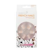 VANESSA French Nails With Glue 24pcs Artificial Nail Art Design No.4