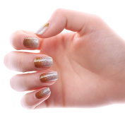 HIGH'S Glitter Series The Cocktail Collection Manicure Nail Stickers Nail Wraps, Golden Age