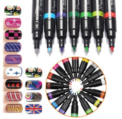 16 Colours Set Nail Art Pen Drawing for 3D Nail Art DIY Decoration UV Gel Polish Made Nail Polish Pen Beauty Painting Design Tools