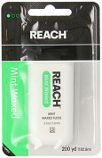 Reach Dental Floss, Waxed, Mint, 200 Yard (Pack of 4) by Johnson & Johnson Reach