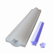 X-Haibei Stars Tube Column Silicone Soap Mould Embed Soap Making Supplies Dia. 2cm