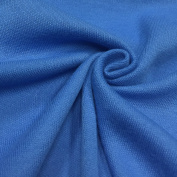 USA Made Premium Quality Poly Cotton Interlock Knit Fabric by the Yard - Blue - 1 Yard