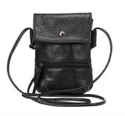 YaJaMa Leather Small Shoulder Crossbody Bag Cellphone Pouch Handbag Purse Wallet