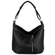 YALUXE Women's Front Pocket Soft Cowhide Leather Purse Hobo Style Shoulder Bag