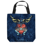 Bon Jovi Weathered Denim Tote Bag 13X13 White