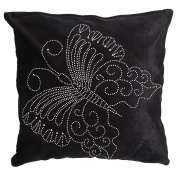 Panache Butterfly Sparkle Design Cushion Cover (Cushion Pad Not Included) (43cm x 43cm (17in x 17in ))