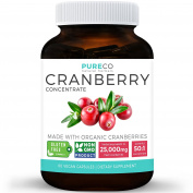 Organic Cranberry Concentrate | 25,000mg of Fresh Cranberries (Equivalent ) | Kidney Cleanse & Urinary Tract Health Support | Fruit Extract Supplement | 60 Vegan Capsules | No Pills