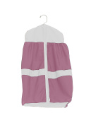 Baby Doll Bedding Solid Stripe Nappy Stacker, Pink/White
