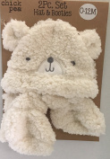 Chick Pea Bear Hat & Booties set for Baby 0-12 months