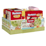 Huggies Little Snugglers Nappies, Newborn & Size 1, Gift for New Parents Baby Arrival Set