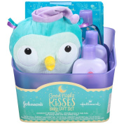 Johnson's Good Night Kisses Baby Gift Set for New Parents Cute Baby Arrival Pack Goodnight Essentials