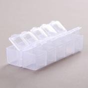 1Pc 10 Cells Tranparent Pill Medicine Jewellery Bead Storage Container Case Box