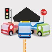 Puraid(TM) New Creative Multi-pattern Creative Toys Mini Wooden Car Model Baby Kid Educational Gift FCI#