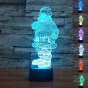Christmas Santa 3D Version LED Night Lamp 7 Colours Change LED Table Desk Lamp
