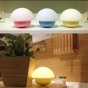 E Support™ Mushroom Design Multicolor LED Baby Night Light Touch Sensor Dimmable 7 Colour Changing LED Nightlights for Indoor Outdoor Bedroom Bathroom